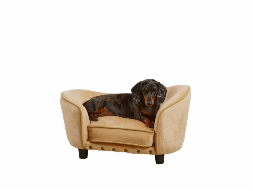 Enchanted Home Pet Dreamcatcher Pet Sofa - Caramel Perspective: front