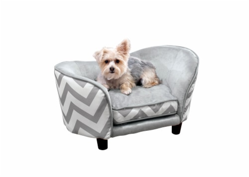 Enchanted Home Pet Snuggle Pet Sofa - Chevron Perspective: front