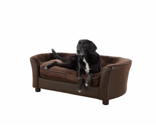 Enchanted Home Pet Panache Pet Sofa - Brown Perspective: front