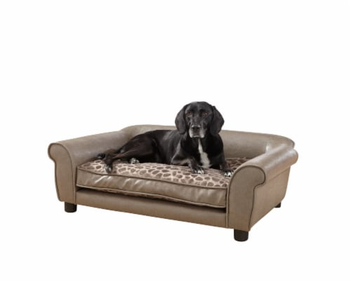 Enchanted Home Pet Rockwell Pet Sofa - Brown Perspective: front