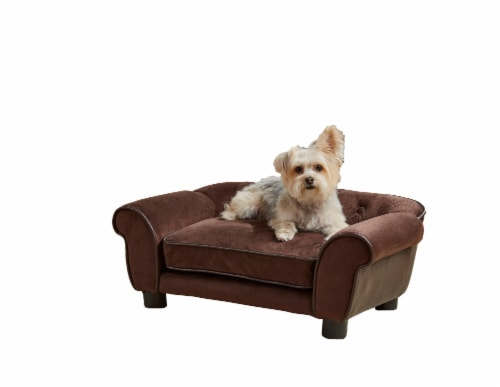 Enchanted Home Pet Cleo Pet Sofa - Brown Perspective: front