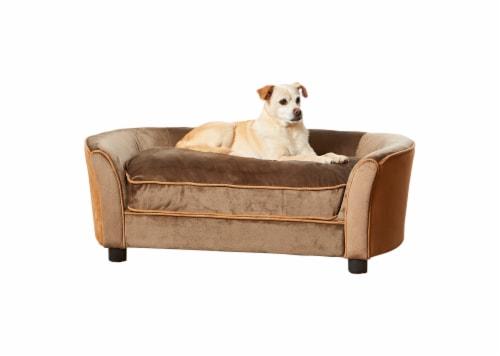 Enchanted Home Pet Panache Pet Sofa - Mink Brown Perspective: front