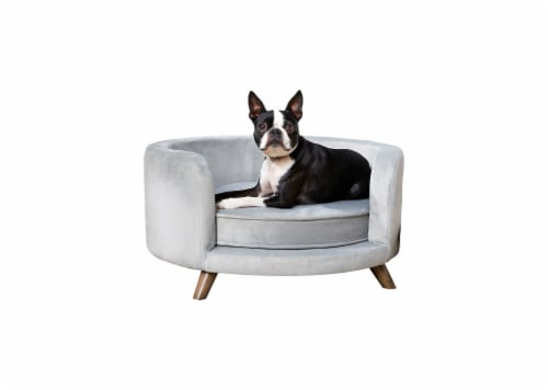Enchanted Home Pet Rosie Pet Sofa - Light Blue Perspective: front