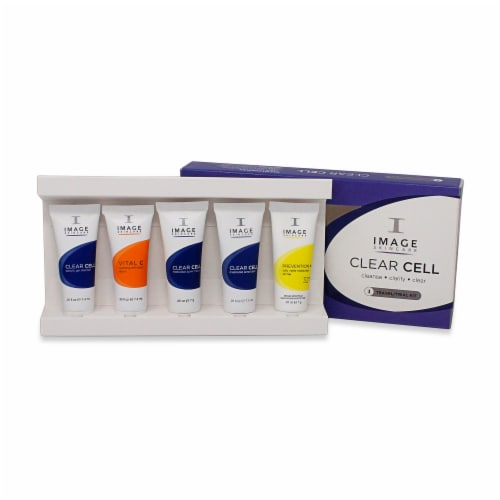 IMAGE Skincare Clear Cell Facial Serum Trial Kit Perspective: front