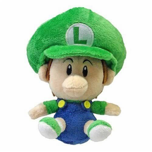 Super Mario Baby Luigi 6 Inch Plush Perspective: front