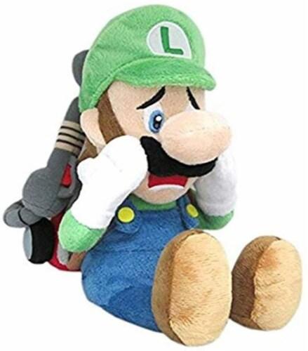 "Little Buddy Super Mario Series Luigi's Mansion 10"""" Scared Luigi With Strobulb Plush Perspective: front"