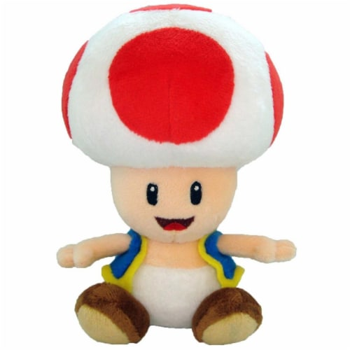 Nintendo 42725 Nintendo 7 in. Super Mario Bros Toad Plush Doll Toy Perspective: front