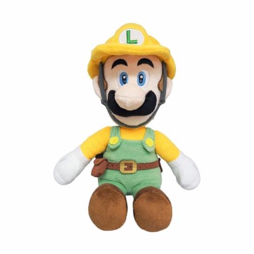 Little Buddy Super Mario All Star Builder Luigi 10 Inch Plush Figure Perspective: front