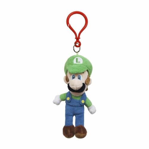 Little Buddy Super Mario Luigi Dangler 7 Inch Plush Figure Perspective: front