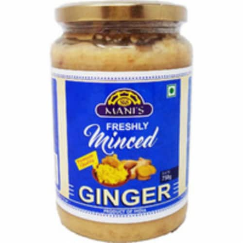 Mani's Freshly Minced Ginger - 750 Gm Perspective: front