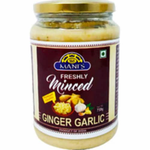 Mani's Freshly Minced Ginger Garlic - 750 Gm Perspective: front