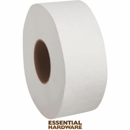 RJ Schinner 250244 4.5 x 3.5 in. White 2 Ply Bath Tissue - Pack of 96 & 500 Sheets Per Roll Perspective: front