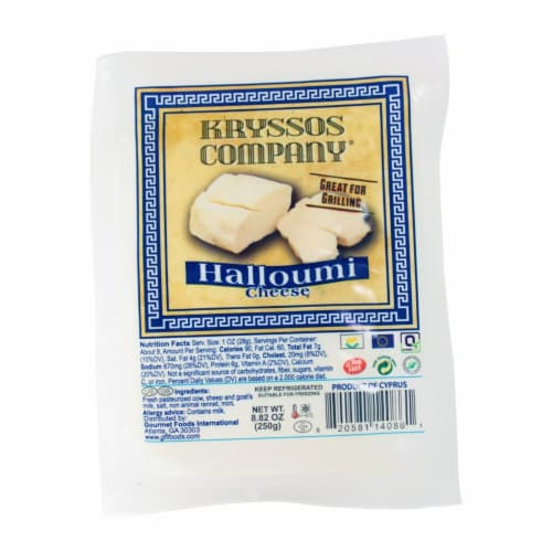 Kryssos Company Halloumi Cheese Perspective: front