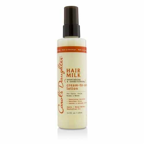 Carol's Daughter Hair Milk Nourishing & Conditioning CreamToSerum Lotion (For Curls, Coils, K Perspective: front