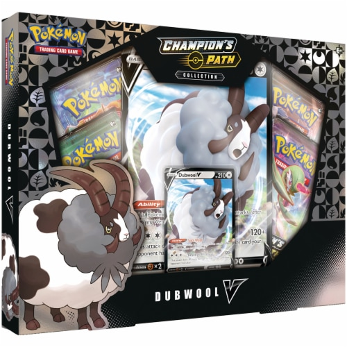 Pokemon: Champion's Path Dubwool V Trading Card Collection Game Perspective: front
