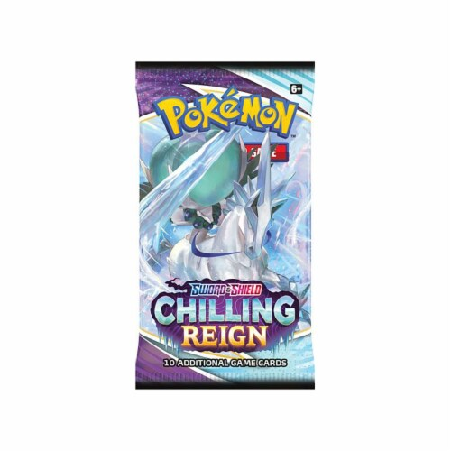 Pokemon Sword And Shield Chilling Reign Booster Pack Perspective: front