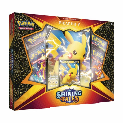 Pokemon TCG: Shining Fates Pikachu V Collection Perspective: front