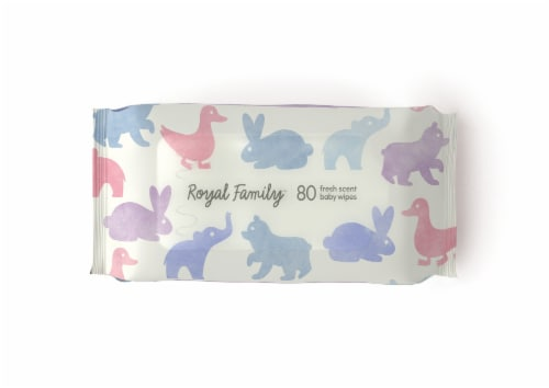 Royal Family Baby Wipes Perspective: front