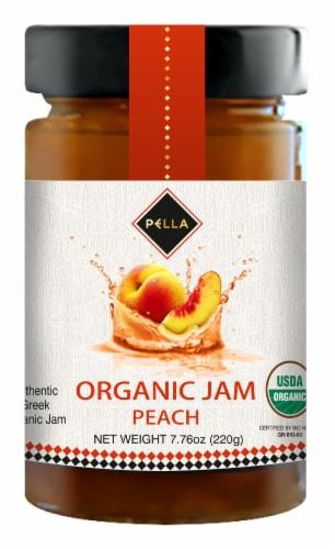 Pella Organic Peach Jam Perspective: front