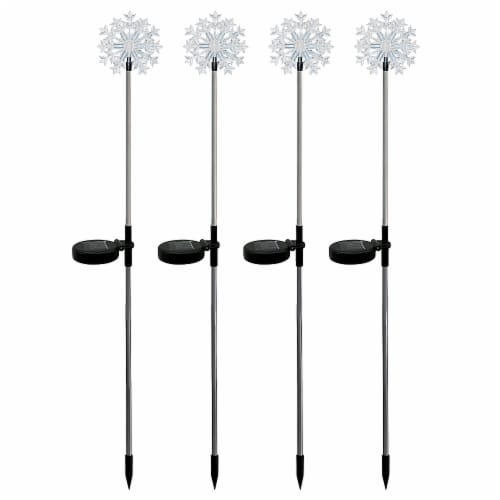 Alpine Solar Snowflake LED Garden Stake - Assorted Perspective: front