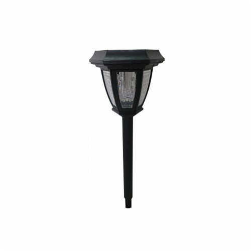 Alpine Corp QAP100BB Solar High Lumens Pathway Light Perspective: front