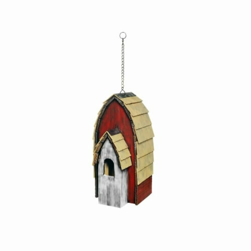 Alpine 16 in. Wood Bird House, Assorted Color Perspective: front
