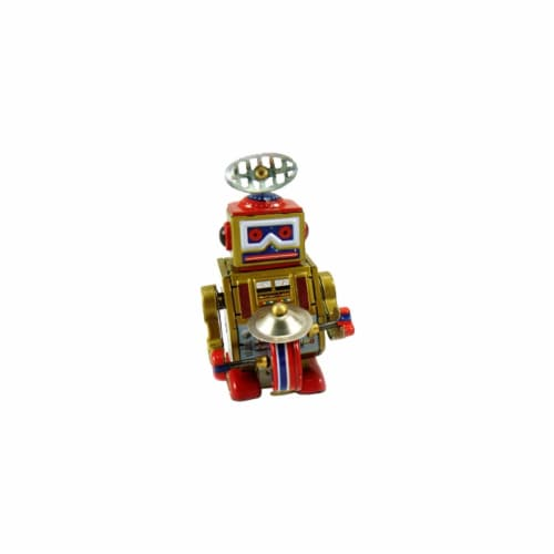 SHAN MS409 Collectible Tin Toy - Robot Perspective: front