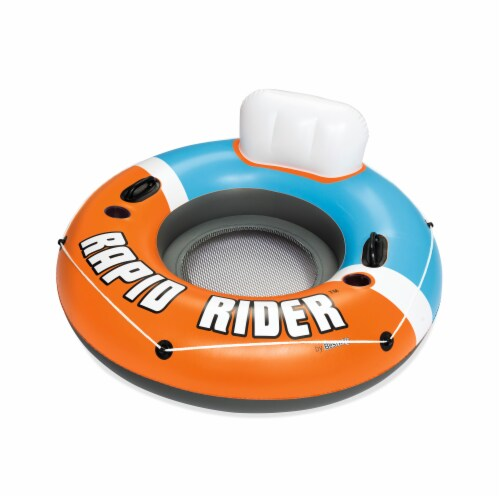 Bestway Hydro-Force Rapid Rider Tube - Orange/Blue Perspective: front
