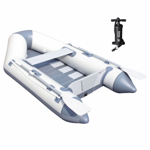 """Bestway Hydro Force Caspian Pro 91"""" Inflatable 2 Person Boat Set w/ Oars & Pump Perspective: front"""
