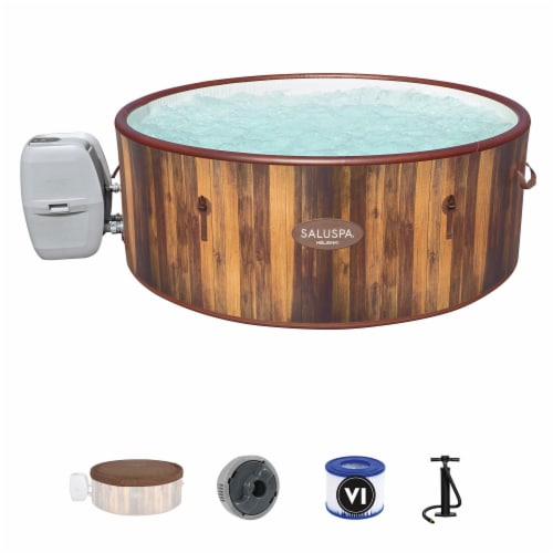 Bestway SaluSpa Helsinki 7 Person Portable Inflatable Hot Tub AirJet Spa w/ Pump Perspective: front