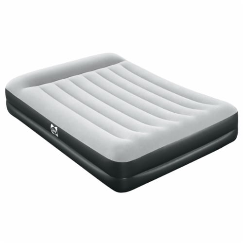 Sealy 94052E-BW 16 Inch Inflatable Mattress Queen Airbed w/ Built-In AC Air Pump Perspective: front