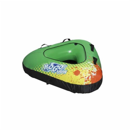 """H2OGO! Snow Winter Rush 39"""" Inflatable Covered Snow Riding Fabric Sledding Tube Perspective: front"""