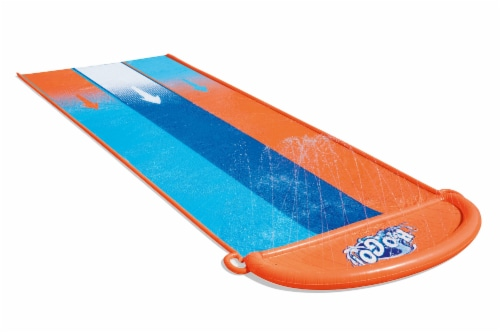 H2OGO™ Triple Slide - Orange/Blue Perspective: front