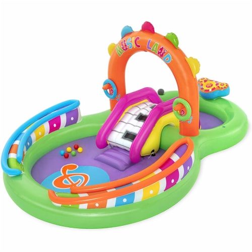 Bestway H2O GO Sing N Splash Inflatable PVC Backyard Swimming Pool Game Center Perspective: front