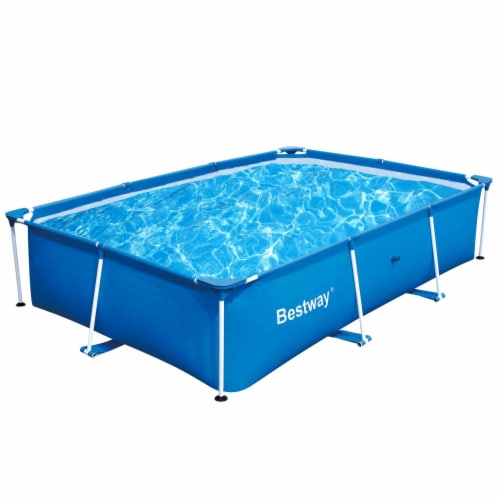 """Bestway 9.8' x 6.7' x 26"""" Deluxe Splash Kids Ground Swimming Pool (Pool Only) Perspective: front"""