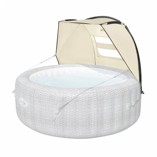 Bestway 60304 Small Sun Shade Canopy Accessory for Round Inflatable Hot Tub Spas Perspective: front