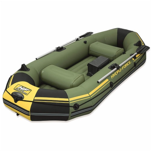"""Bestway Hydro Force Marine Pro 115"""" Inflatable 2 Person Boat Raft w/ Oars & Pump Perspective: front"""