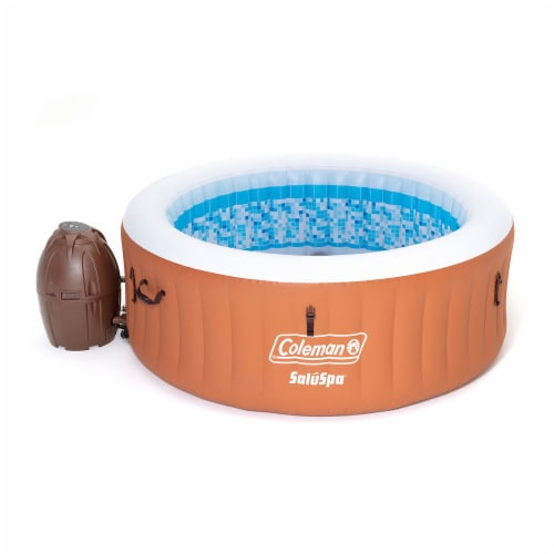 Coleman 90455E SaluSpa Miami Air Jet 4 Person Inflatable Hot Tub Spa with Pump Perspective: front