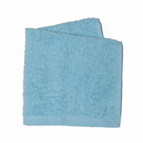Simple Essentials Washcloths 4 Pack - Blue Perspective: front