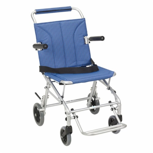 Drive Medical SL18 Super Light Foldable Wheeled Transport Chair with Carry Bag Perspective: front