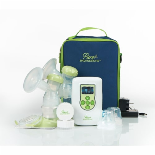 Drive Medical rtlbp2000 Pure Expressions Dual Channel Electric Breast Pump Perspective: front