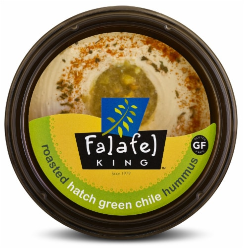 Falafel King Hatch Green Chili Hummus Perspective: front