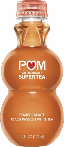 POM Wonderful Pomegranate Peach Passion Tea Perspective: front