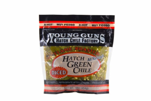 Young Guns Flame Roasted Hatch Green Chile Perspective: front
