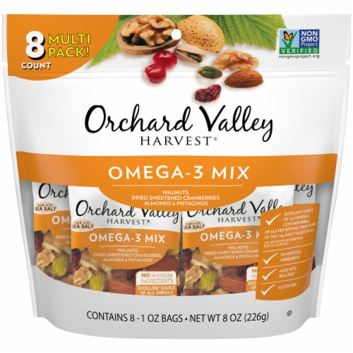 Orchard Valley Harvest Omega-3 Mix Perspective: front