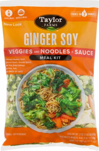 Taylor Farms Ginger Soy Stir Fry Meal Kit Perspective: front