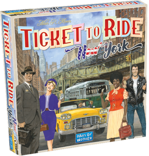 Days of Wonder Ticket to Ride: New York Board Game Perspective: front