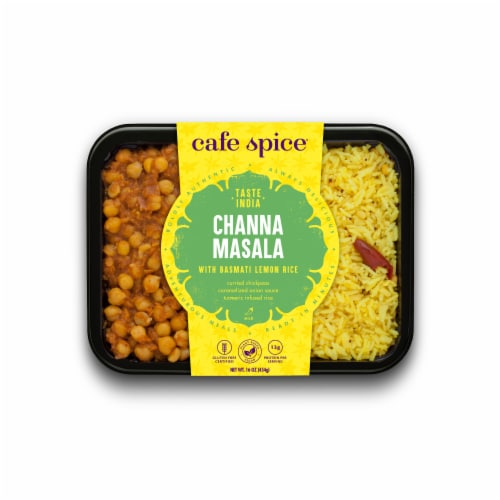 Cafe Spice® Gluten Free Channa Masala with Basmati Lemon Rice Meal Perspective: front