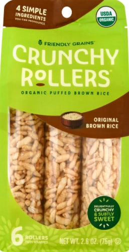 Crunchy Rice Rollers Organic Original Brown Rice Rollers Perspective: front