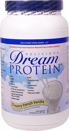 Greens First Delicious Dream Protein - Creamy French Vanilla Perspective: front